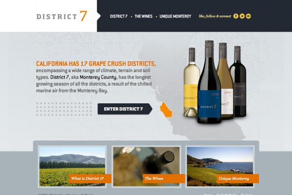 District 7 Wines Homepage