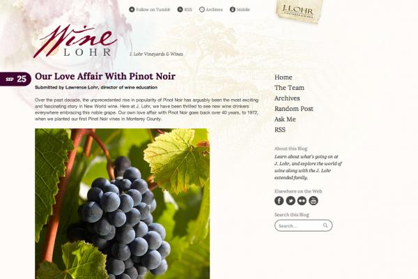 Wine Lohr - Tumblr Theme
