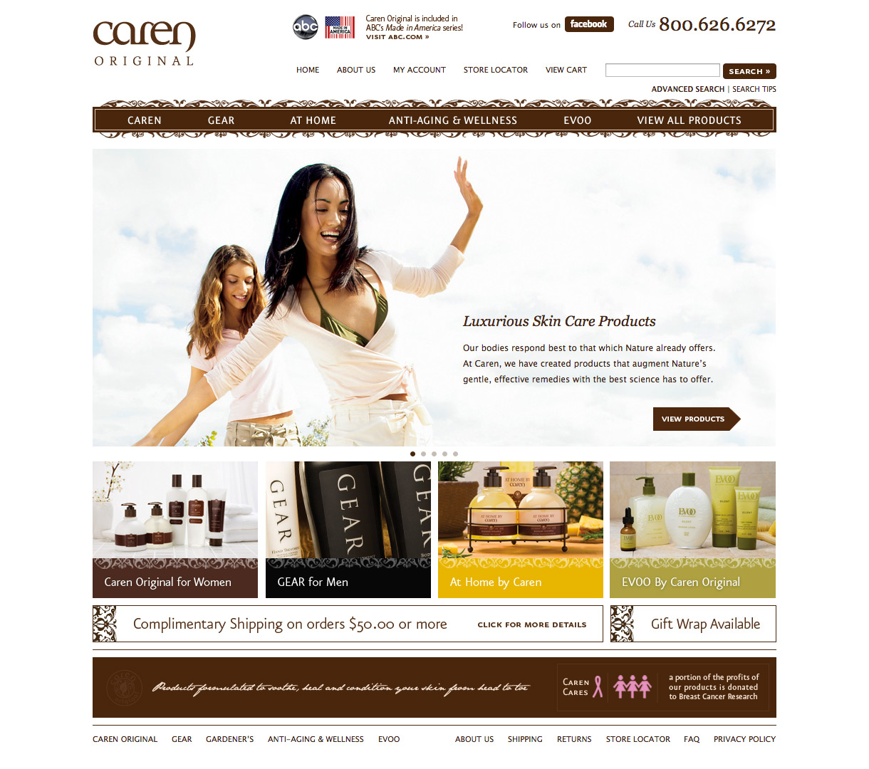 Caren Products Homepage