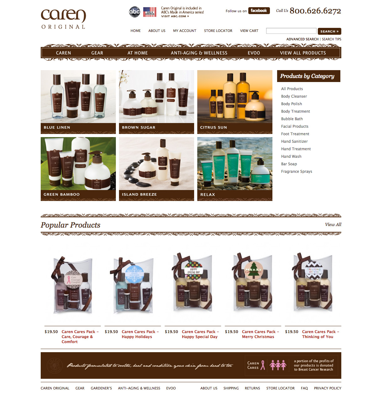 Caren Products - Caren Original Landing Page