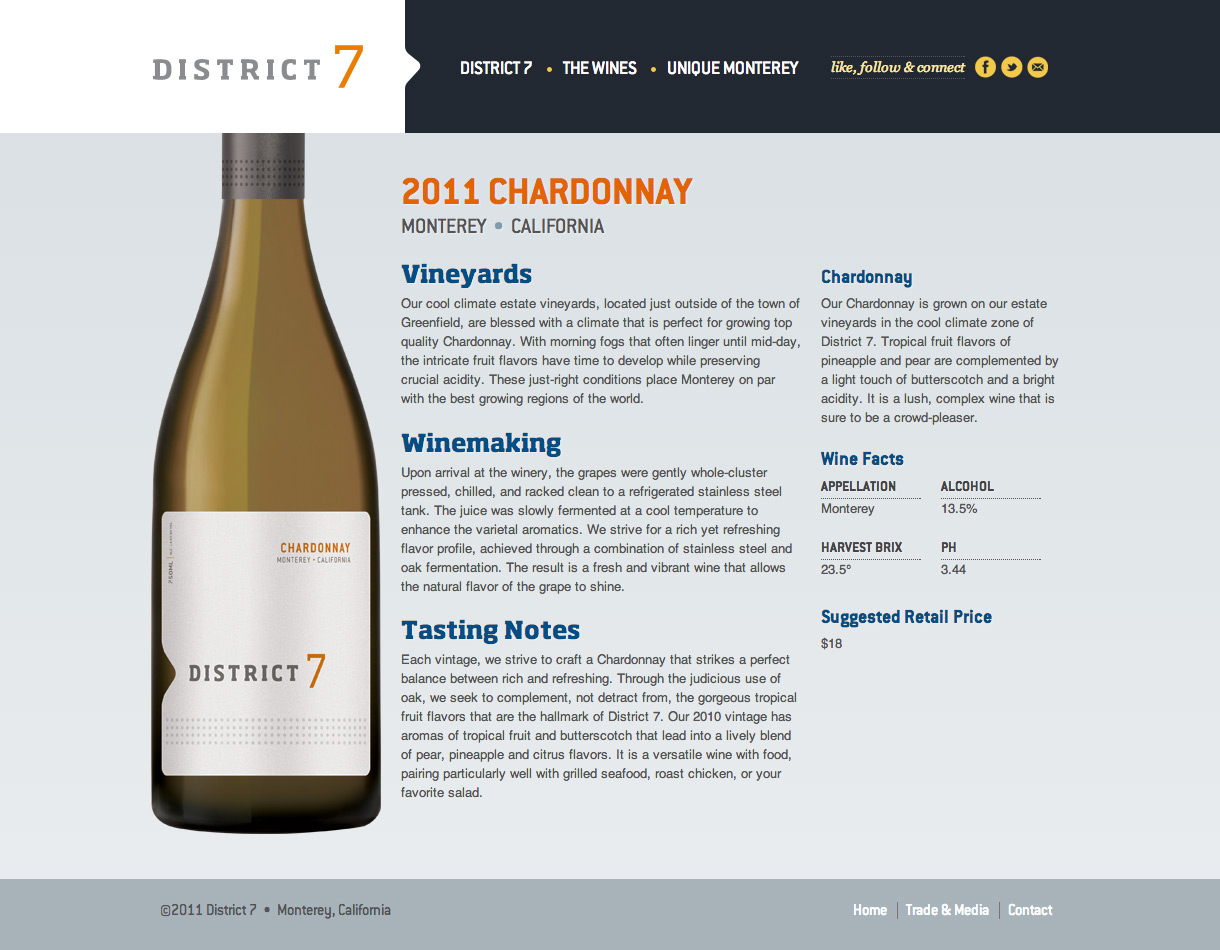 District 7 Wines - Wine Detail