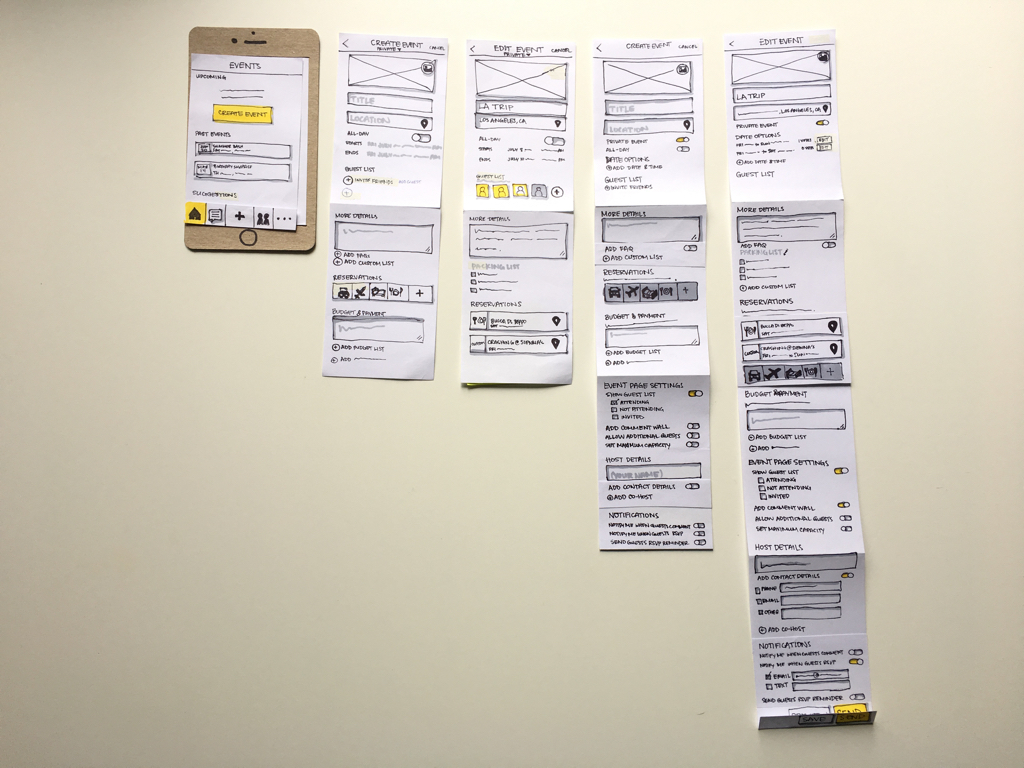 Gatherings - Paper Prototypes