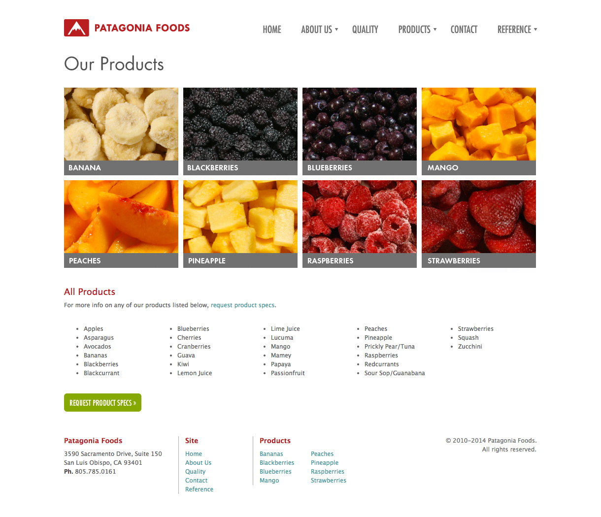 Patagonia Foods - Product Landing Page