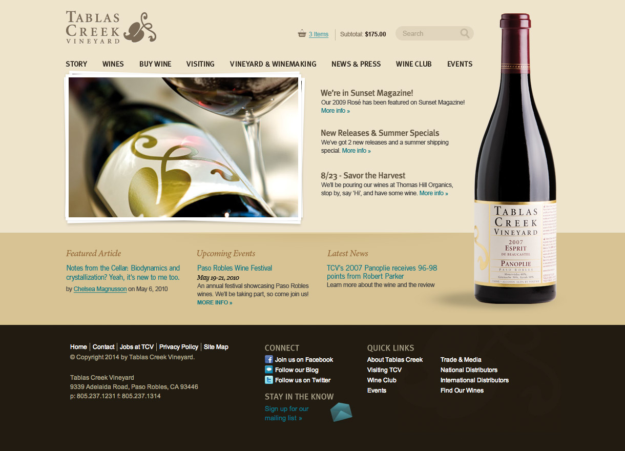 Tablas Creek Homepage